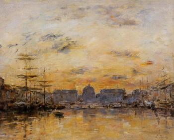 Eugene Boudin : The Commerce Basin, Le Havre